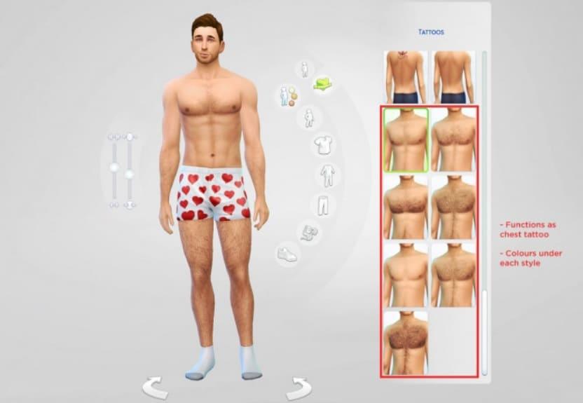 mods para cuerpo de Sims 4