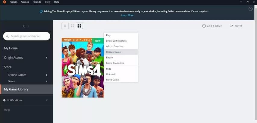 actualizar Sims 4