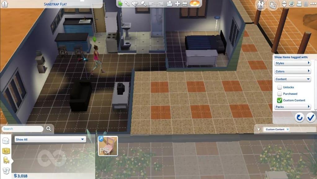 elegir objeto editado Sims 4