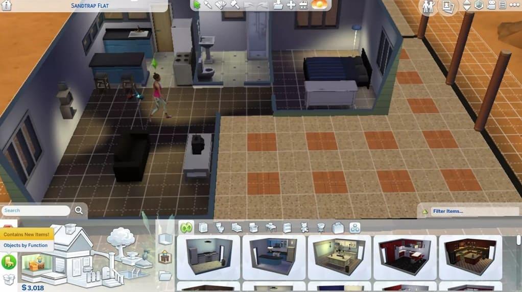 elegir objeto Sims 4